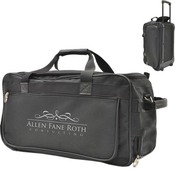 "Wheeled 25"" Polyester Duffel"