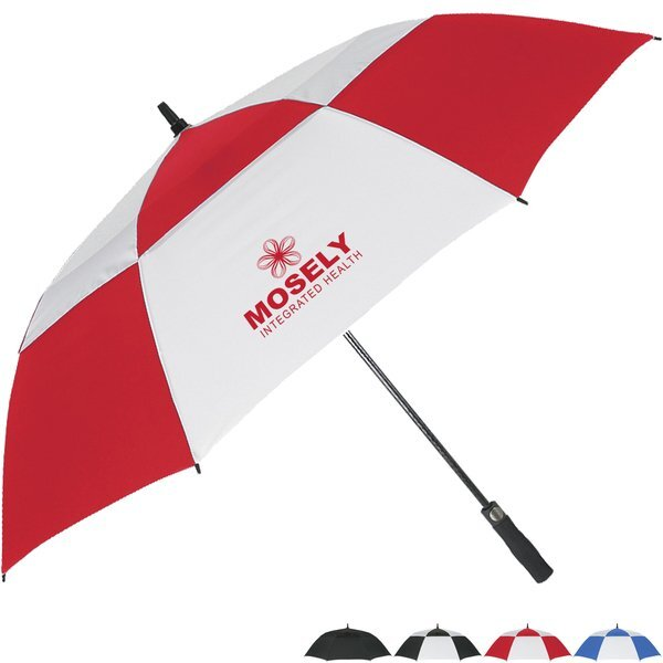 "Storm Vented Windproof Umbrella, 58"" Arc"