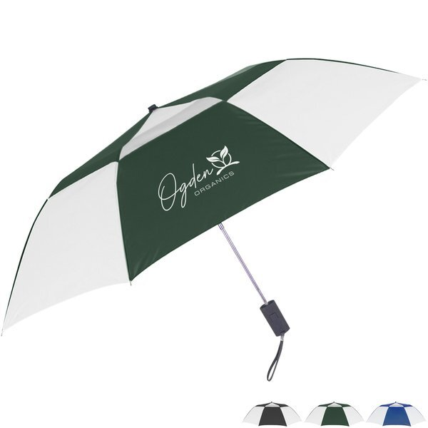 "Telescopic Folding Vented Umbrella, 44"" Arc"
