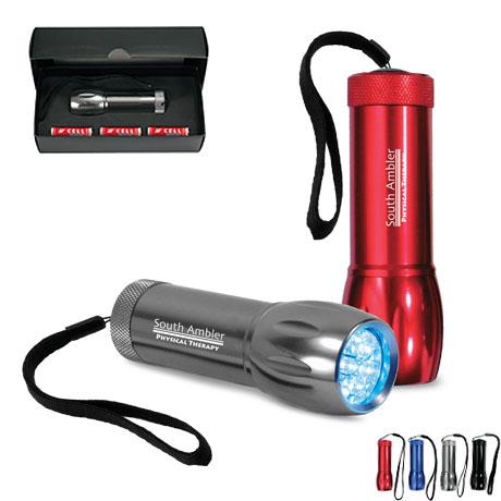 Aluminum LED Flashlight w/ Strap