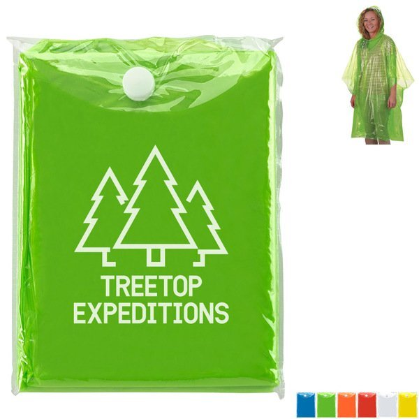 Disposable Poncho in Carrying Case