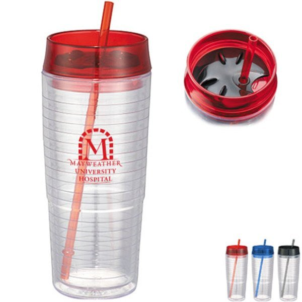 Hot & Cold Swirl Double-Wall Tumbler,  20 oz.
