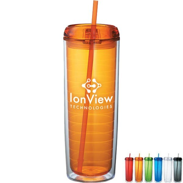 Hot & Cold Mega Vortex Double-Wall Tumbler, 24 oz.