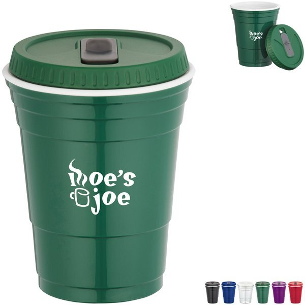 Game Day Double Wall Tritan Cup with Lid, 16oz.