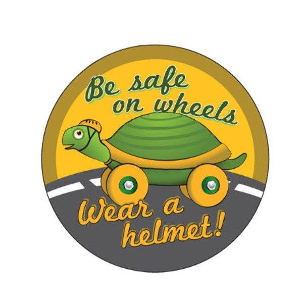 Be Safe on Wheels Sticker Roll, Stock