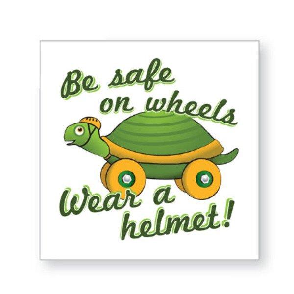 Be Safe on Wheels Temporary Tattoo, Stock