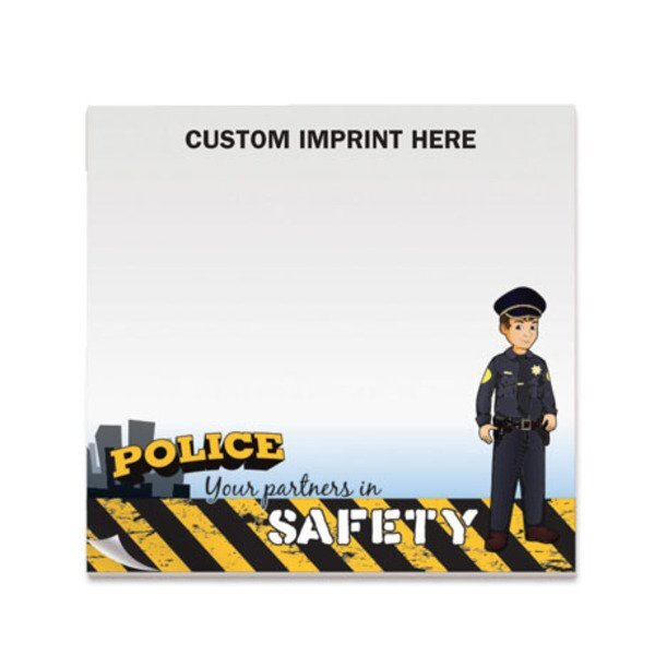 Police Your Partners in Safety, 50 Sheet Sticky Pad