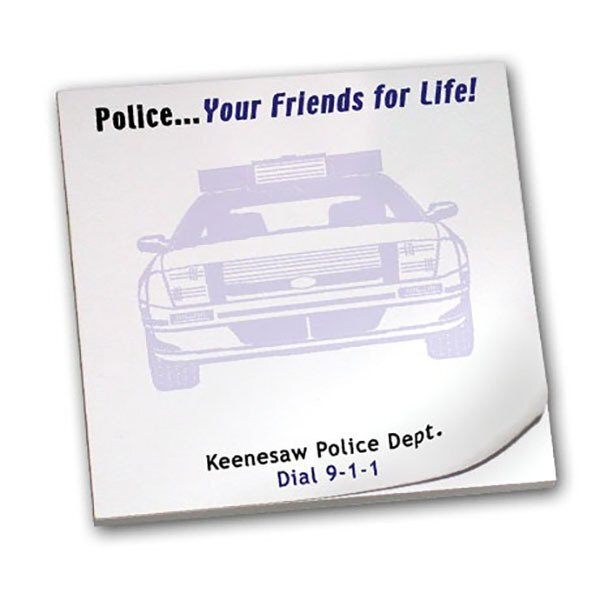 Police... Your Friends for Life! 50 Sheet Sticky Pad