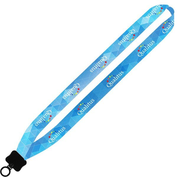 Dye-Sublimated Polyester Lanyard w/ O-ring Attachment, 1""