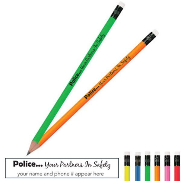 Your Partners in Safety Neon Pencil