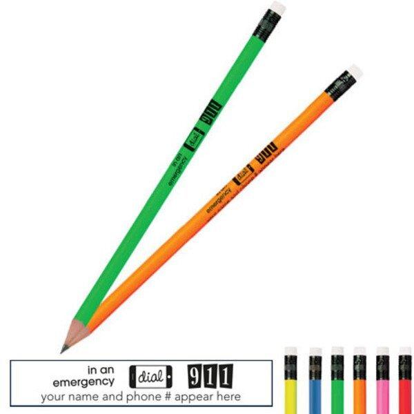Dial 911 Neon Pencil