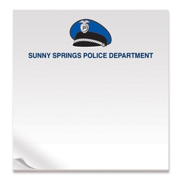 Police Hat, 50 Sheet Sticky Pad