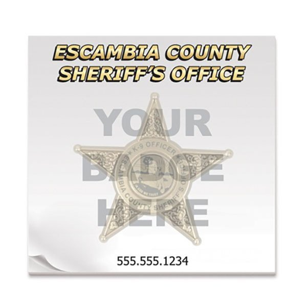 Sheriff Badge, 50 Sheet Sticky Pad