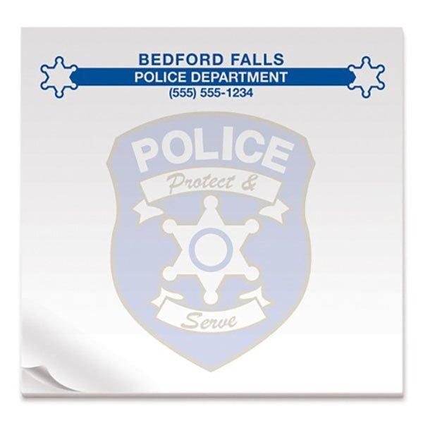 Police Protect & Serve, 50 Sheet Sticky Pad