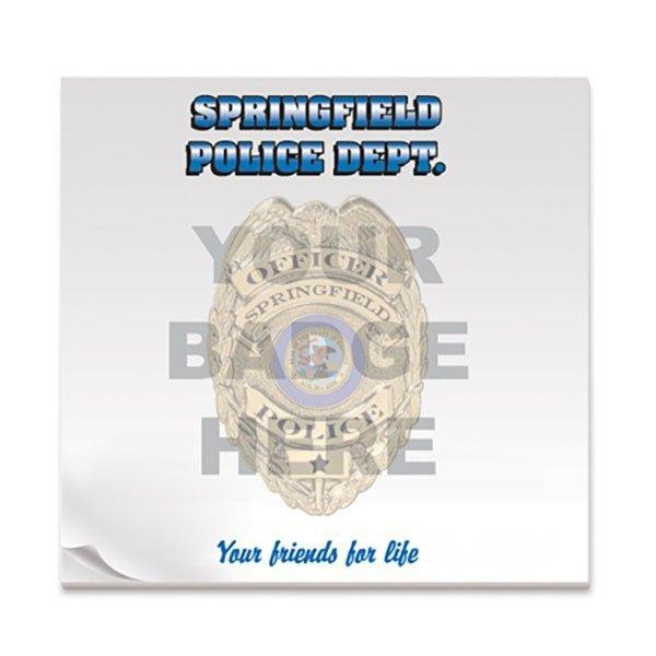 Police Badge, 50 Sheet Sticky Pad