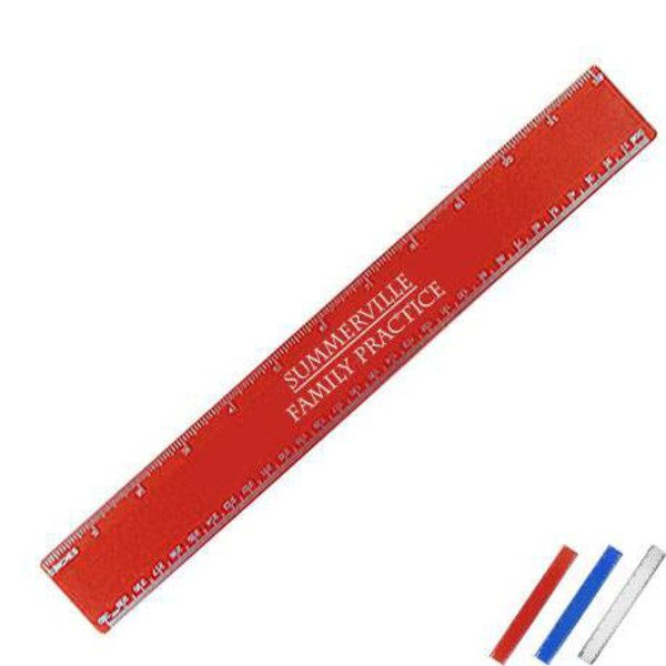 Beveled Plastic Ruler, 12""
