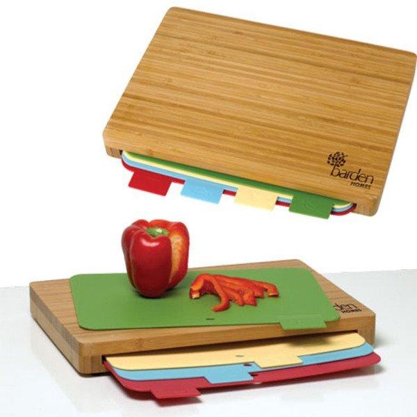 Five-Piece Bamboo Cutting Board Set