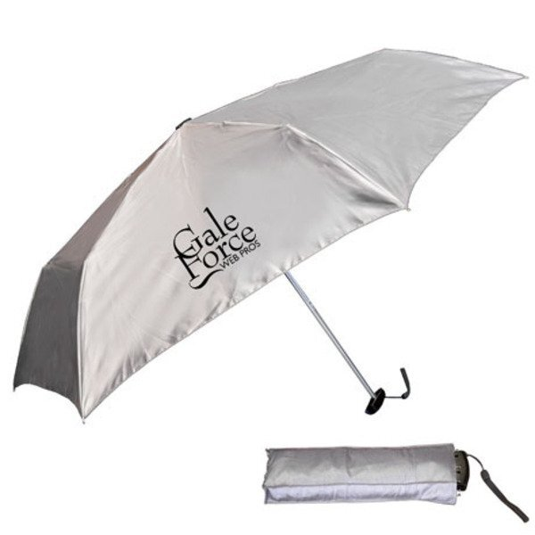 "Fold-Flat Umbrella w/ Matching Case, 39"" Arc"