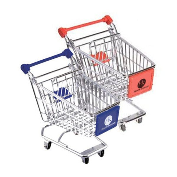 Mini Metal Shopping Cart