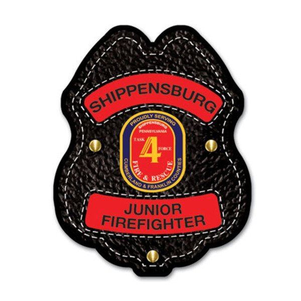Junior Firefighter Plastic Badge with Full Color