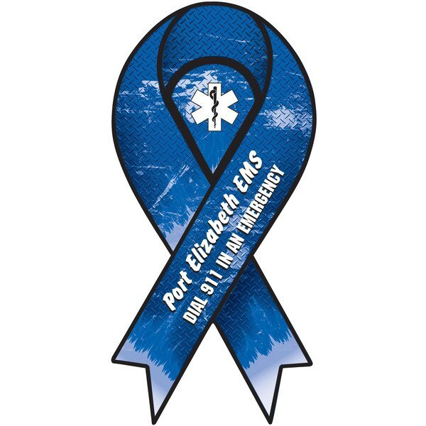 EMS Support Full Color Ribbon Auto Magnet