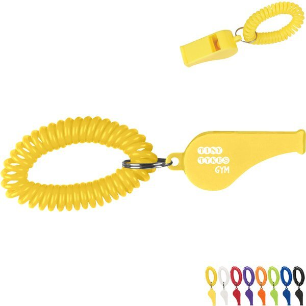 Coil Wrist Band w/ Whistle