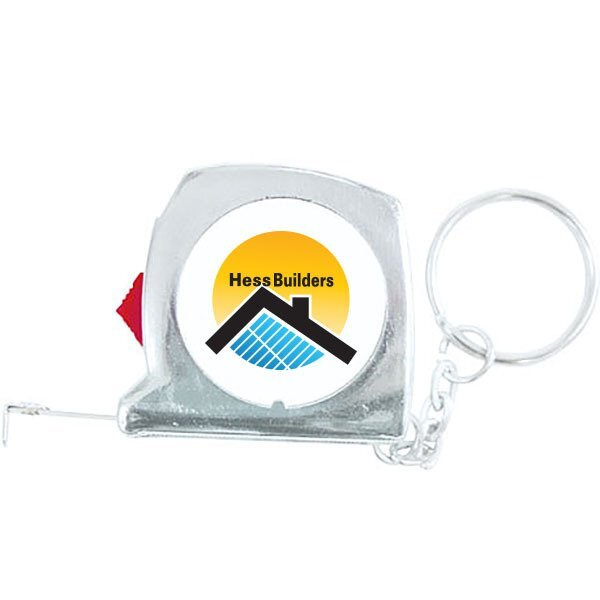 Locking Tape Measure Keychain, 3'