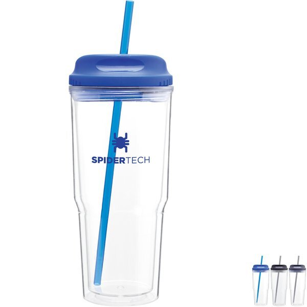 Gulp Acrylic Beverage Tumbler with Hot/Cold Lid, 24oz.