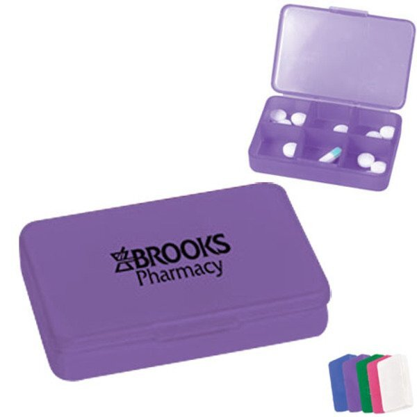 Modular Compartment Pill Case, Six Compartment