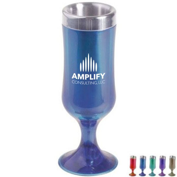 Acrylic/Stainless Steel Tulip Shot Glass, 1-1/2oz.