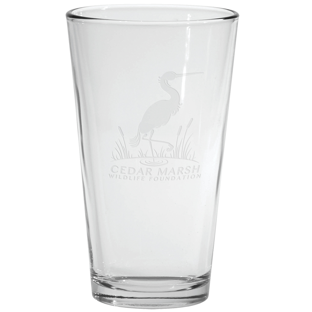 Deep Etched Pint Glass, 16oz.