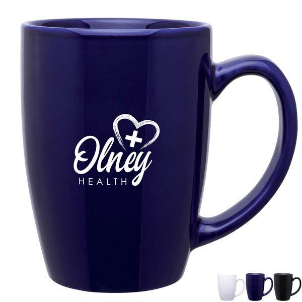 Glossy Contour Ceramic Mug, 14oz.