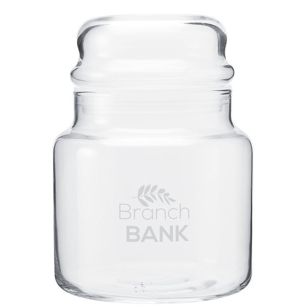 Glass Apothecary Jar with Dome Lid, 16oz.