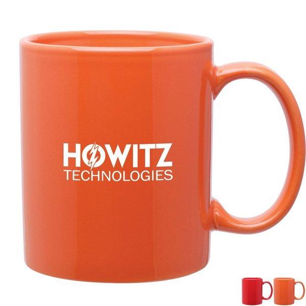 Classic C-Handle Mug, 11oz. - Red & Orange