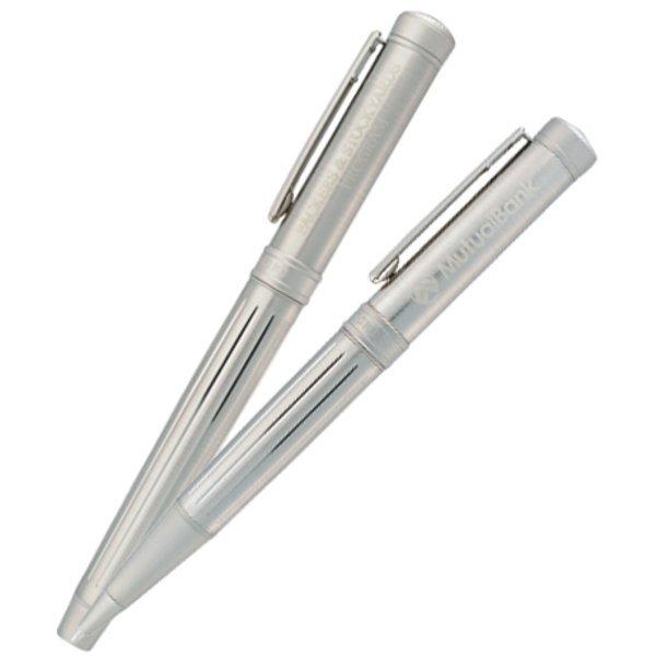 Cutter & Buck® Midlands Ballpoint & Rollerball Metal Gift Pen Set