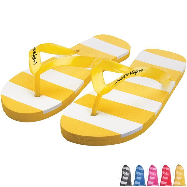 Striped Flip Flops, Adult