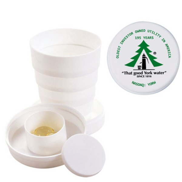 Travel Collapsible Cup with Pillbox, 3-1/2 oz.