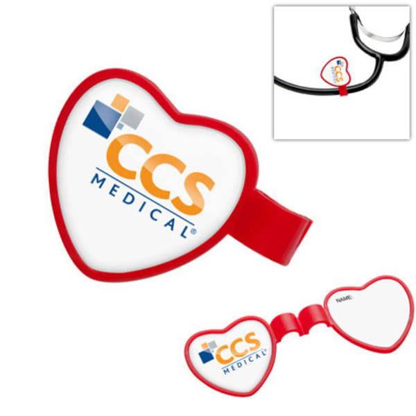 Anti-Microbial Heart Stethoscope ID Tag