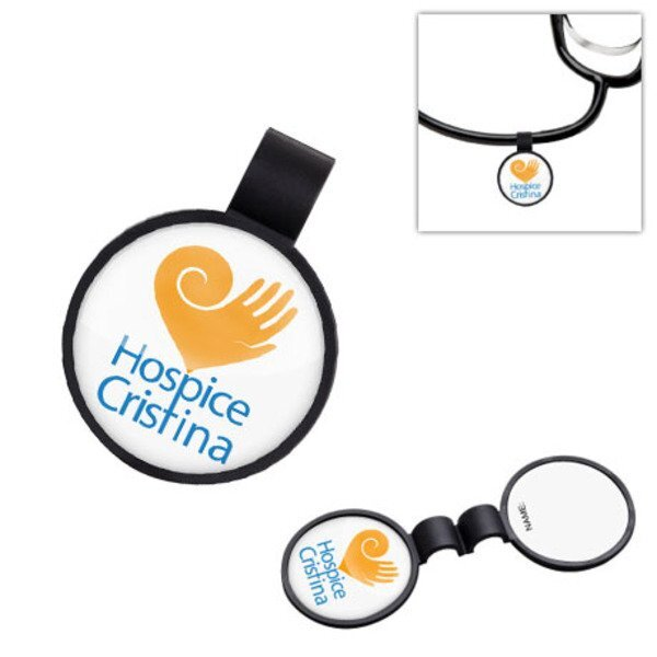 Anti-Microbial Round Stethoscope ID Tag