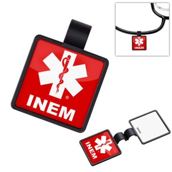 Anti-Microbial Square Stethoscope ID Tag