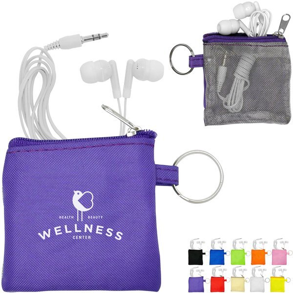 Ear Buds in Travel Pouch