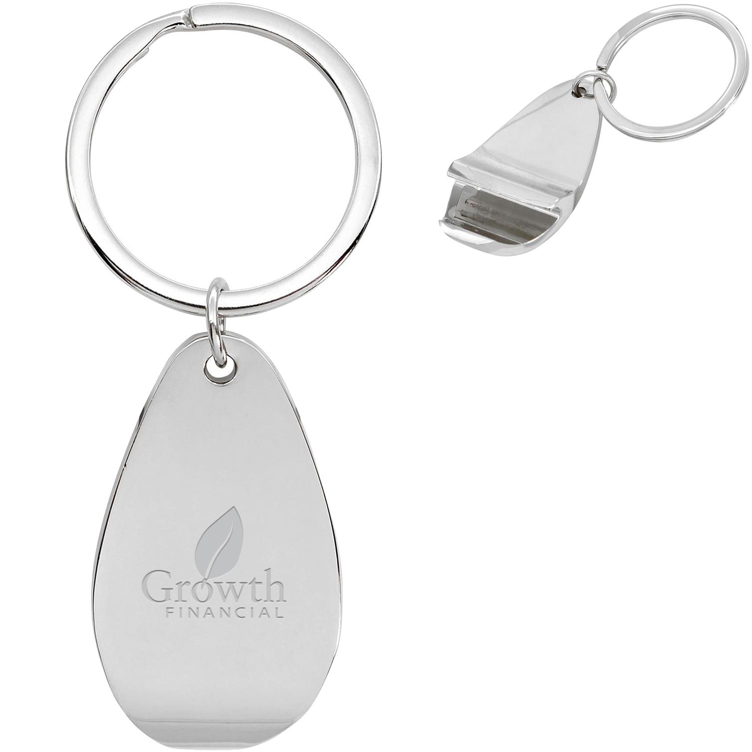 Chrome Bottle Opener Key Ring