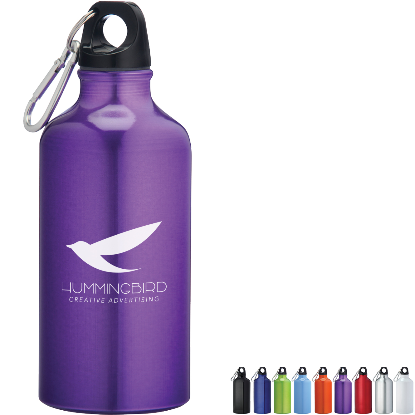 Short Stuff Aluminum Sports Bottle, 17oz., BPA Free