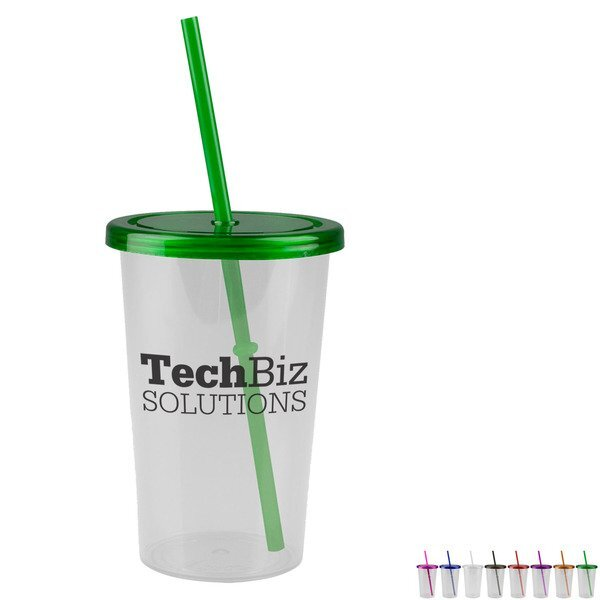 Patriot Single Wall Acrylic Travel Tumbler, 20oz. - Straw Lid
