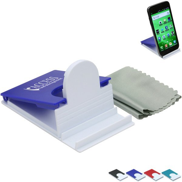Phone Stand w/ Microfiber Cleaning Cloth