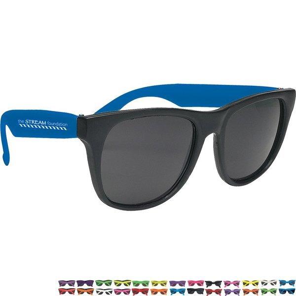 Vibrant Trim Rubberized Sunglasses