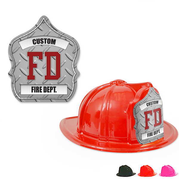 Fire Station Favorite Hat  Diamond Plate Design, Custom