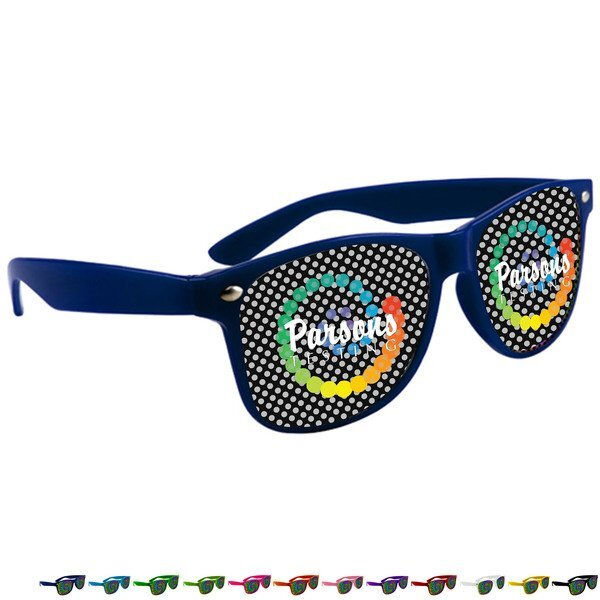 Miami Magic Sunglasses w/ Logo on Lens