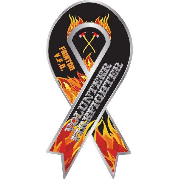 Volunteer Firefighter Full Color Ribbon Auto Magnet