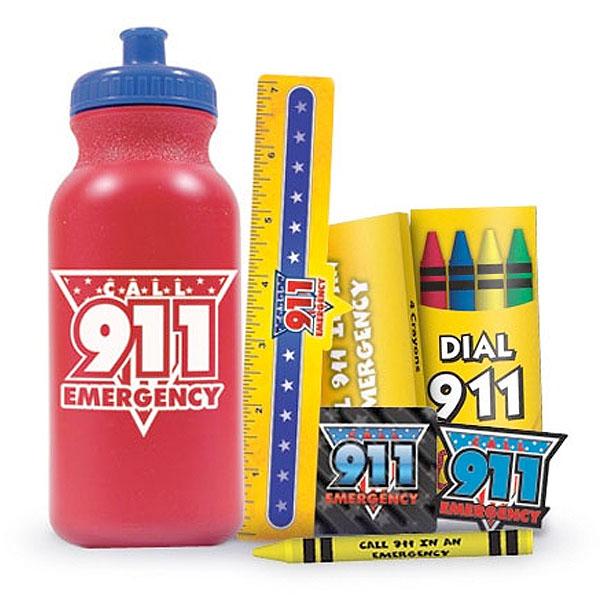 Call 911 Emergency 20 oz. Sport Bottle Kit, Stock